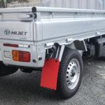 ハイゼットS500P/S510Pの泥除け | 取付け方と色と形