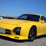 黄色のRX-7(FD3S) | シフトブーツ取付例