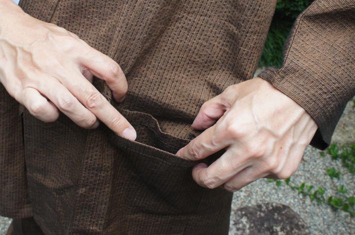 作務衣の内ポケット