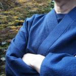 夏用しじら織り作務衣 | 色褪せない濃紺