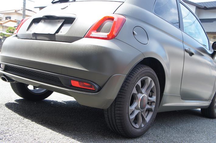 フィアット500サイドブレーキカバー取付例