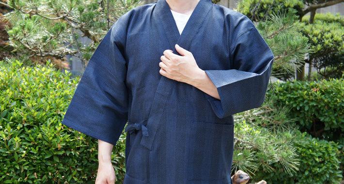 纏い織り作務衣