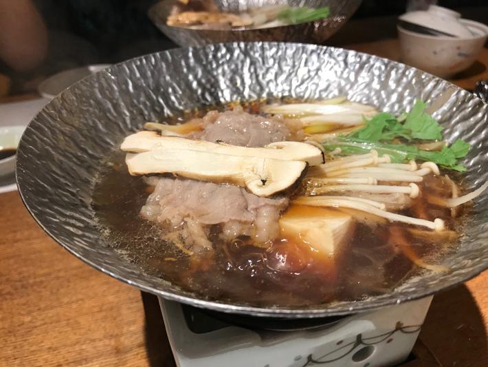 松茸すき焼き