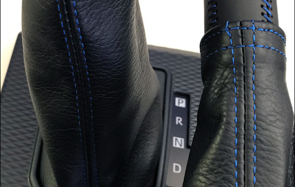 ライズ用シフトブーツ青ステッチ