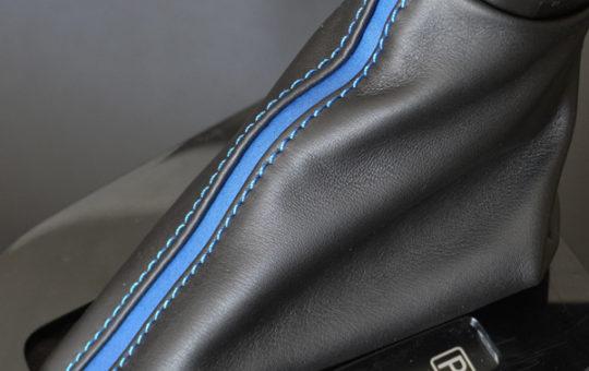 スイスポC33Sシフトブーツ青ステッチ青ライン
