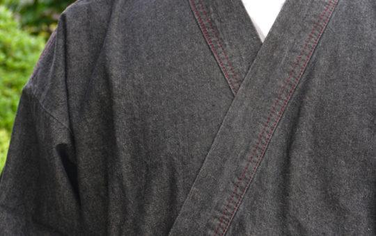 黒デニム作務衣