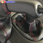 RX7 FD | 本革の赤ステッチ仕様で